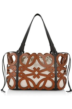 Loewe Anagram Cut-Out Leather Tote