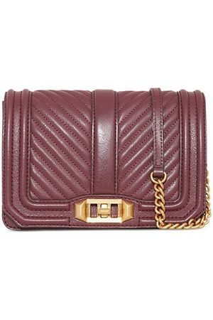 Rebecca Minkoff Small Chevron Quilted Love Leather Crossbody Bag