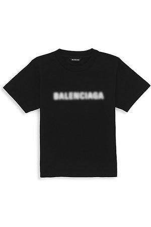 Balenciaga Girls Short Sleeve - Little Kid's & Kid's Logo Blurry-Print T-Shirt
