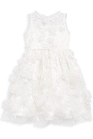 Marchesa Notte Girls Printed Dresses - Little Girl's & Girl's Tearose 3D Floral Appliqué Dress