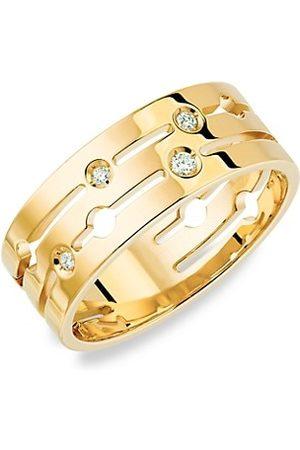 DINH VAN Pulse 18K Yellow Gold & Diamond Medium Ring