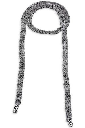EMANUELE BICOCCHI Men Neckties - Sterling Silver Crocheted Tie Necklace