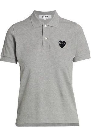 Comme des Garçons Women Polo Shirts - Embroidered Heart Polo