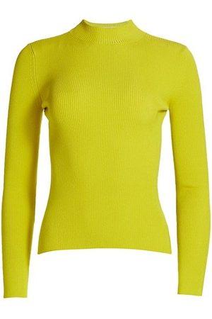 Oscar de la Renta Silk-Blend Mock Turtleneck Sweater