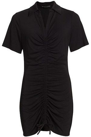ALICE+OLIVIA Marsha Ruched Polo T-Shirt Dress