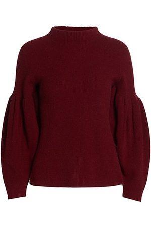 NAADAM Cashmere Pleated Turtleneck Sweater