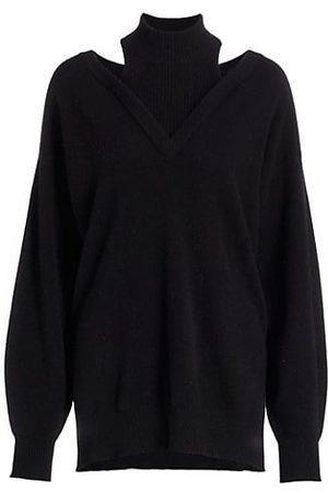 NAADAM Women Jumpers - Cashmere Cut-Out Turtleneck Sweater