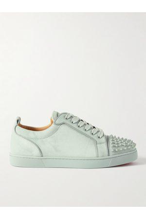 Christian Louboutin Boys Sneakers - Louis Junior Spikes Cap-Toe Suede Sneakers