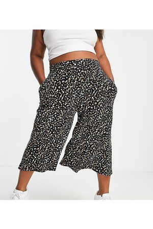 Yours Women Leggings - Exclusive culottes in monochrome print