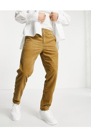 Polo Ralph Lauren Icon logo drawstring flat front prepster cord trousers in tan-Neutral