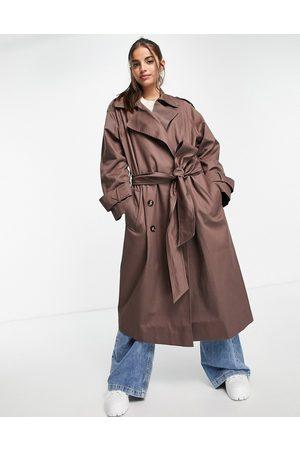 ASOS Oversized trench coat in dark