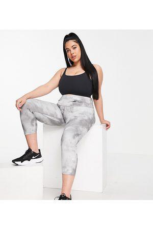Nike Plus Icon Clash One Sculpt cropped tie dye leggings in