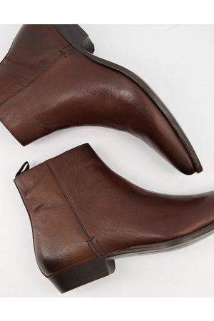 Silver Street Heeled western boots in leather