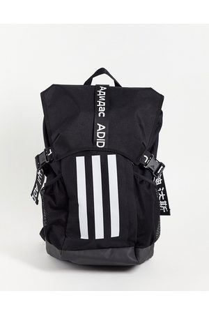 adidas Adidas Training large backpack with three stripes and tape detail in