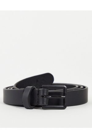 ASOS Leather skinny belt in with matte buckle