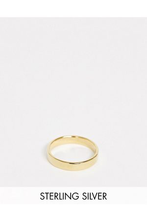 ASOS Sterling silver band ring in 14k plate