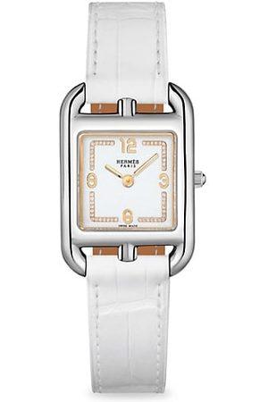 Hermès Cape Cod Stainless Steel, Diamond & Alligator Leather Strap Watch