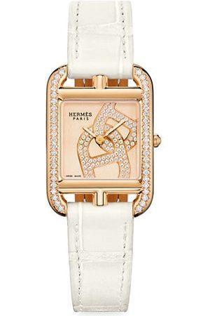 Hermès Watches - Cape Cod Chain D'Ancre 18K Rose Gold, Diamond & Alligator Leather Strap Watch
