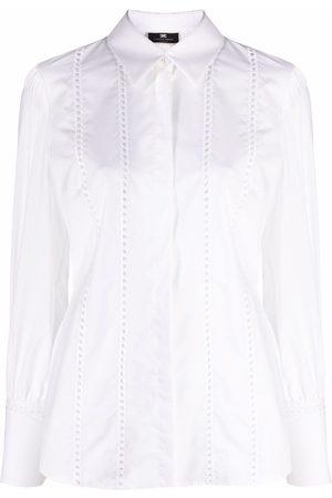 Elisabetta Franchi Women Long Sleeve - Long-sleeve broderie anglais cotton shirt