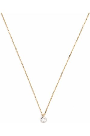 COURBET 18kt yellow Origine laboratory-grown diamond bezel set necklace