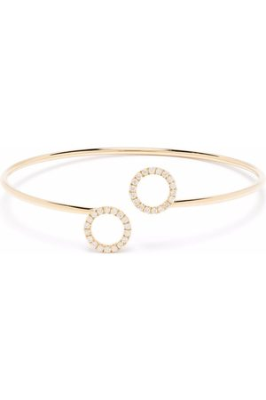 COURBET Women Bracelets - 18kt recycled yellow O2 double ring laboratory-grown diamond bangle