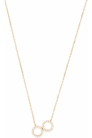 COURBET 18kt recycled rose gold O2 laboratory-grown diamond double ring pendant necklace