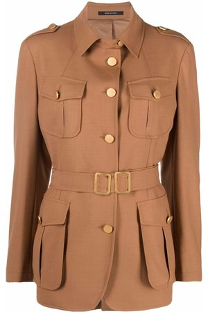 TAGLIATORE Belted button-down jacket