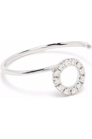 COURBET 18kt recycled white gold O2 laboratory-grown diamond ring