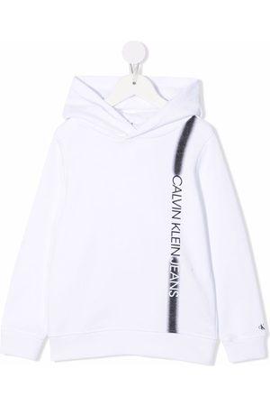 Calvin Klein Sprayed stripe logo-print hoodie