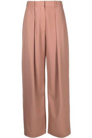 Victoria Beckham Wide-leg knife pleat trousers