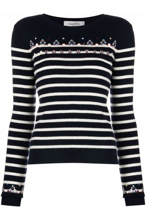 VALENTINO Women Jumpers - Embroidered logo jumper