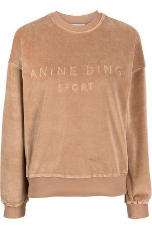 ANINE BING Women Sweatshirts - Evan logo-embroidered sweatshirt