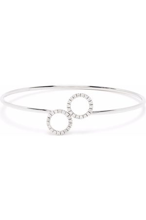 COURBET Women Bracelets - 18kt recycled white gold O2 double rings laboratory-grown diamond bangle