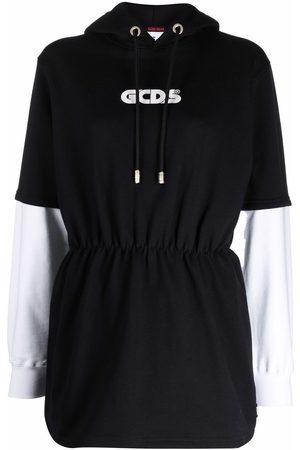 GCDS Women Printed Dresses - Logo print hoodie dress