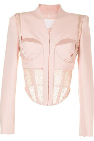 DION LEE Women Bustiers - SUSPENDED LACE BUSTIER JACKET