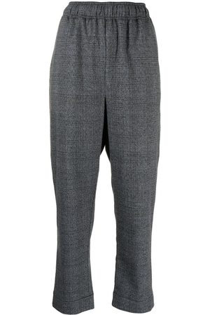 PROENZA SCHOULER WHITE LABEL Check-pattern cropped trousers