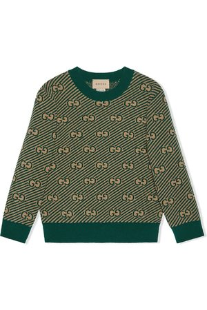 Gucci Boys Jumpers - GG monogram knit jumper