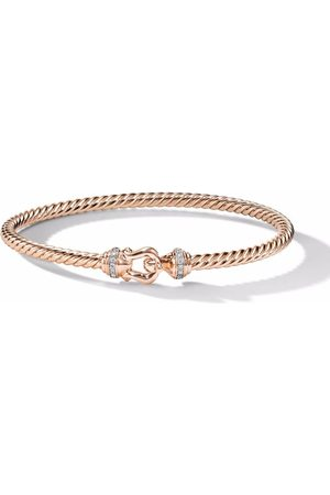 David Yurman 18kt rose gold Cable Buckle diamond bracelet