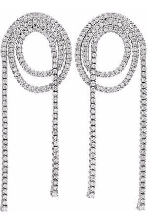 DELFINA DELETTREZ Women Earrings - 18kt white gold Unchain My Art diamond loop earrings