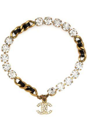 CHANEL 1995 embellished CC-charm bracelet