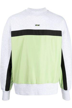 Msgm Men Sports Sweatshirts - Logo-patch panelled sweatshirt