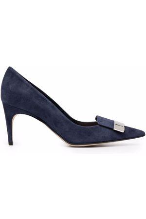 Sergio Rossi Women Shoes - Sr1 75mm suede pumps