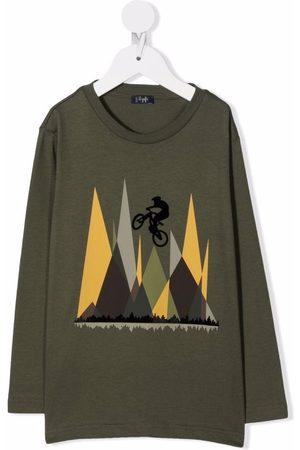 Il gufo Boys Long Sleeve - Bike-print T-shirt
