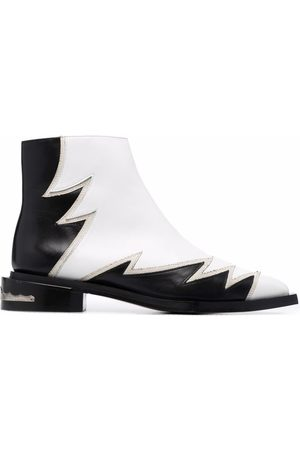 TOGA PULLA Women Ankle Boots - Colour-block zig-zag detail ankle boots