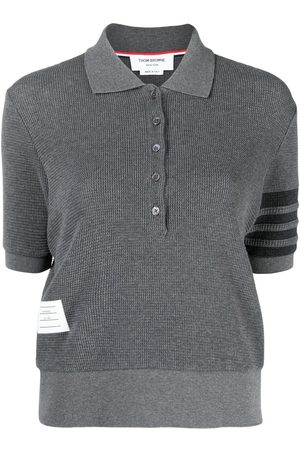 Thom Browne Waffle-knit polo top