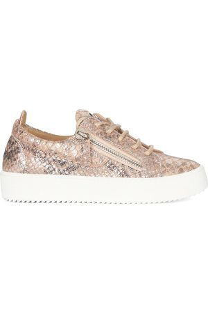 Giuseppe Zanotti Gail metallic low-top sneakers