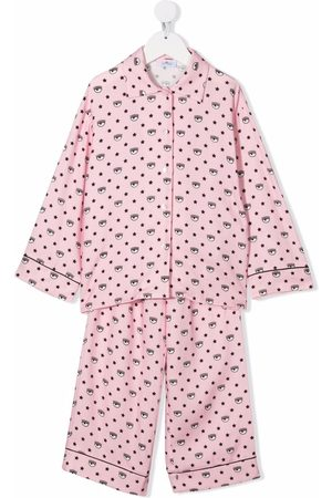 Chiara Ferragni Girls Pyjamas - Logomania-print pajama set