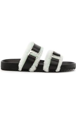 SENSO Dalley shearling-trim sandals
