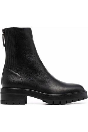 Aquazzura Saint Honore Combat almond-toe boots