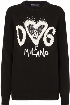 Dolce & Gabbana Logo-embroidered knitted jumper